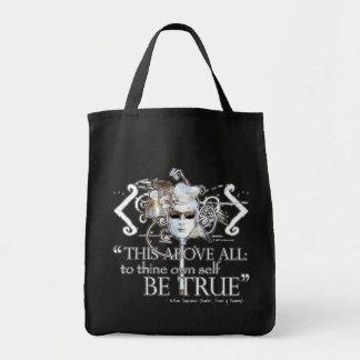 Hamlet own self be true Quote Canvas Bag