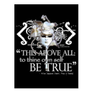 "Hamlet ""... own self be true ..."" Quote Customize Postcards"