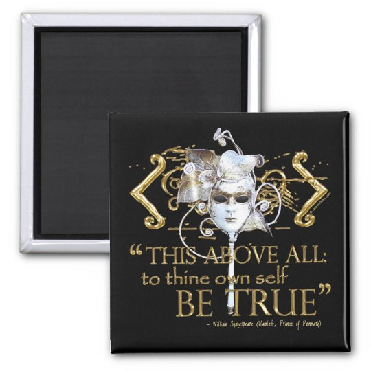 "Hamlet ""own self be true"" Quote (Gold Version)"
