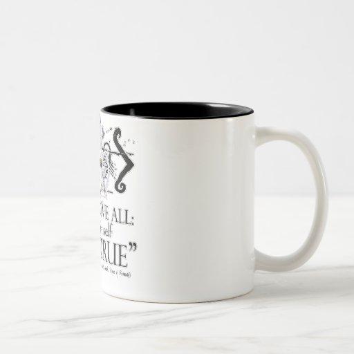 "Hamlet ""... own self be true ..."" Quote Coffee Mug"