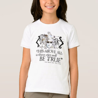"""Hamlet """"... own self be true ..."""" Quote T-Shirt"""