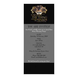 Hamlet Play Quote (Gold Version) 10 Cm X 24 Cm Invitation Card