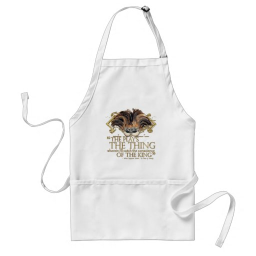 Hamlet Play Quote (Gold Version) Aprons