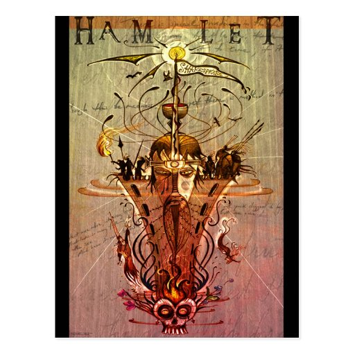 'Hamlet' postcard
