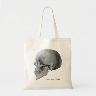 Hamlet Shakespeare skull poor Yorick book tote Budget Tote Bag