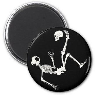 Hamlet Soccer Skull 6 Cm Round Magnet