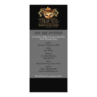 "Hamlet ""speak the speech ..."" Quote (Gold Version) 10 Cm X 24 Cm Invitation Card"