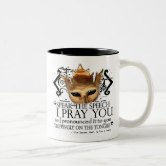 "Hamlet ""Speak the speech ..."" Two-Tone Coffee Mug"