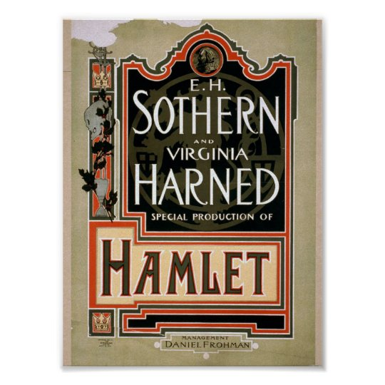 Hamlet Vintage Theatre Poster