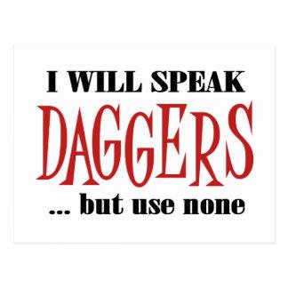 Hamlet's Daggers Postcard