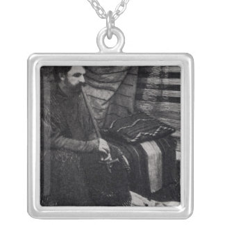 Hamlin Garland in his Cheyenne Teepee Smoking Silver Plated Necklace