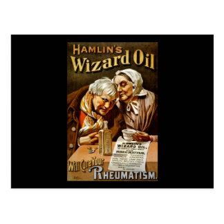 Hamlin's Wizard oil will cure your rheumatism Postcard