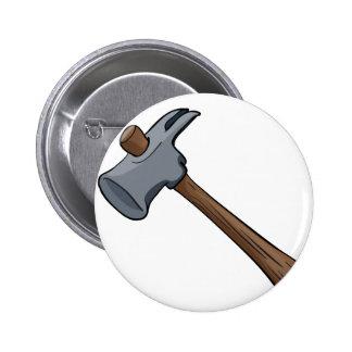 hammer 6 cm round badge