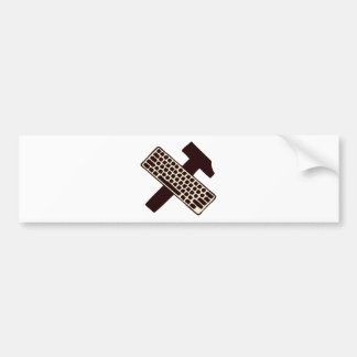 Hammer and keyboard bumper stickers