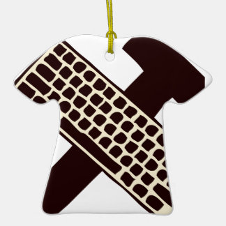 Hammer and keyboard christmas ornament