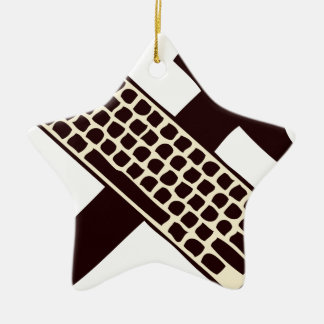 Hammer and keyboard christmas ornaments