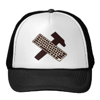 Hammer and keyboard mesh hat
