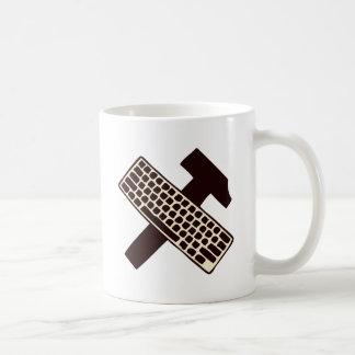 Hammer and keyboard coffee mugs