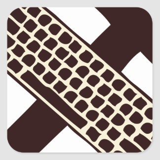 Hammer and keyboard square sticker