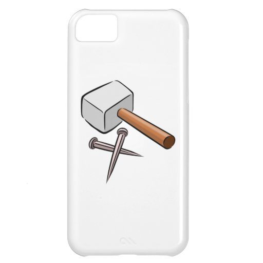 Hammer and Nails Cover For iPhone 5C
