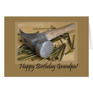 Hammer and Nails Happy Birthday Grandpa Greeting Card