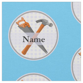 Hammer and saw design for boys fabric