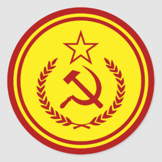 Hammer and Sickle Badge Stickers