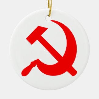 Hammer and Sickle Christmas Ornament