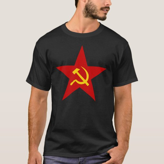Hammer and Sickle Communist Star T-Shirt