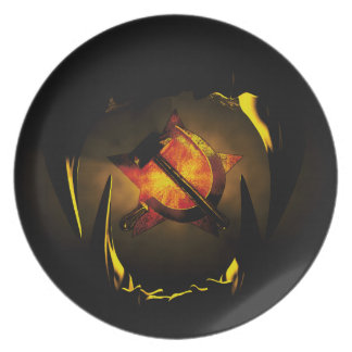 Hammer and sickle plate