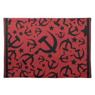 Hammer and Sickle Red & Black Placemat