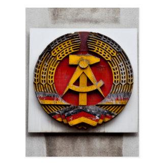 Hammer and Sickle Symbol of Communist Postcard