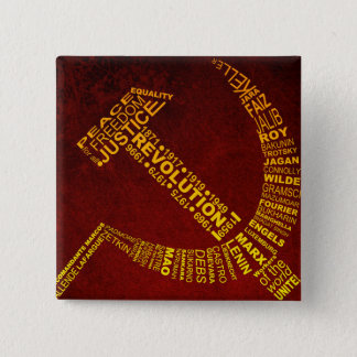 Hammer and Sickle with names and years 15 Cm Square Badge