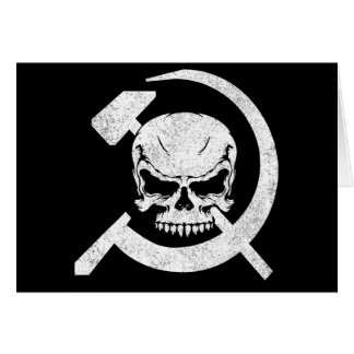 Hammer and Sickle with Skull Greeting Card