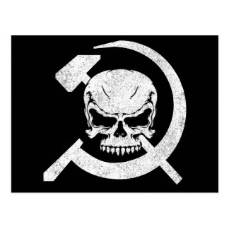 Hammer and Sickle with Skull Postcard