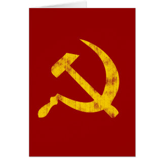 Hammer and Sickle (worn look) Greeting Card