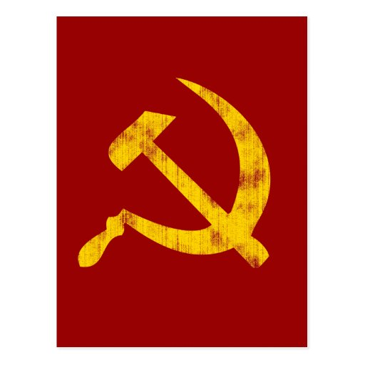 Hammer and Sickle (worn look) Post Cards