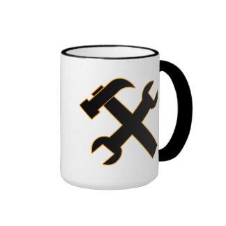 Hammer and Spanner Ringer Coffee Mug