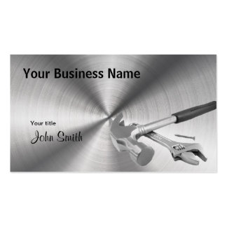 Hammer and Tools Handyman Steel business card