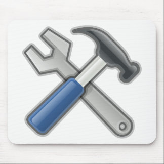 Hammer and Wrench Mouse Pad