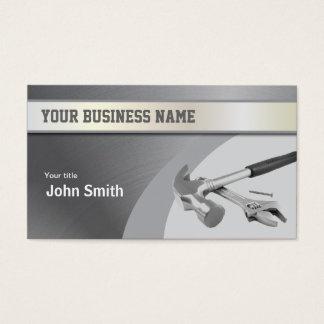 Hammer Construction Metal Texture business card
