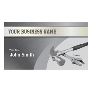 Hammer Construction Metal Texture business card