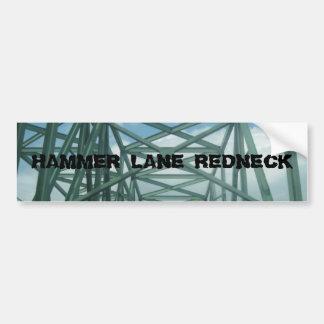 HAMMER LANE REDNECK BUMPER STICKER