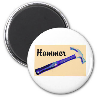 Hammer 6 Cm Round Magnet