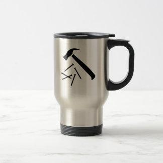 Hammer nails stainless steel travel mug