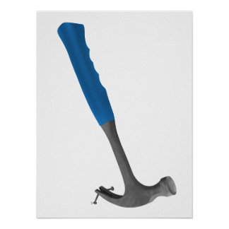 Hammer Pulling Nails Poster