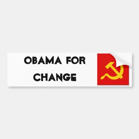 Hammer_sickle_clean, Obama for Change Bumper Sticker