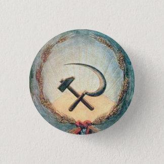 Hammer & Sickle Wheat Small, 1¼ Inch Round Button