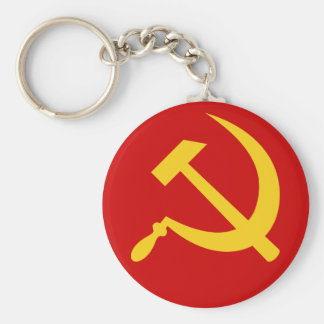 Hammer & sickle (yellow) keychain