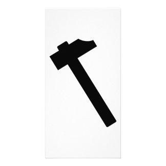 Hammer symbol photo card